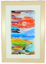 fused glass picture, abstract landscape
