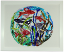 fused glass picture, fantasy fish
