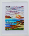fused glass picture, fantasy seascape