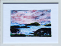 fused glass picture, seascape based on Godrevy point